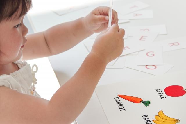 幼児の学習風景